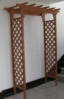 real wood flower stand/classic trellis wooden garden arbor