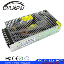 High Quality 200w 24v/ 8.3a 12v / 16.7a dc switching power supply AC-DC SMPS For Led Strip Light