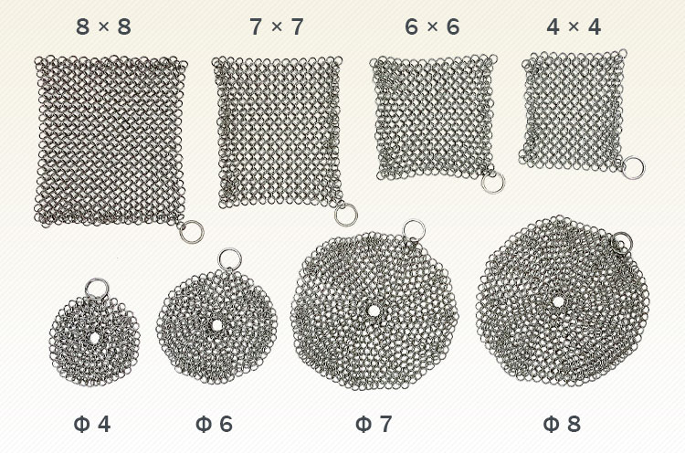 Good qualitycustom stainless steel metal chainmail for pan cleaning
