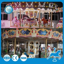 new china products kids games china supplier amusement park equipment rides double decker carousel horse