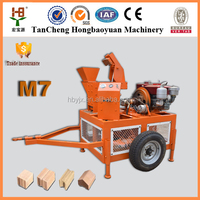 New 2015 M7 interlock industrial machine for small business/hydraulic interlocking block making machine