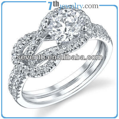 Chinese Knot Shaped Diamond Ring High Quality Unique Finger Rings Alibaba Wholesale Rings