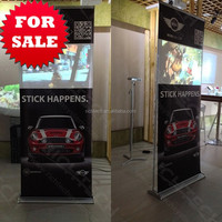 RichTech roll up banner, retractable display of dynamic advertising