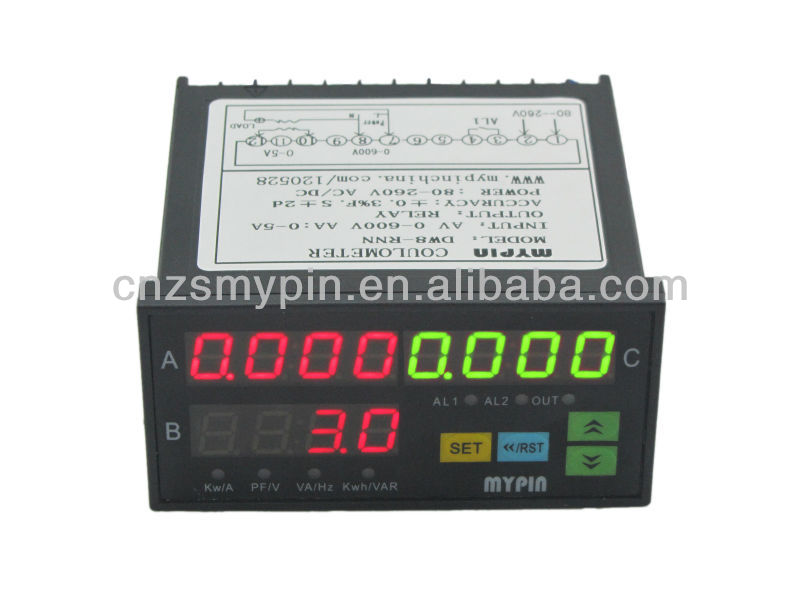 WH Three phase three/four wire digital electric kWh meter(LED)