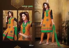 Wholesale Designer Punjabi suit material-Wholesale embroidery Georgette Dress Material -Pakistani long straight salwar kameez