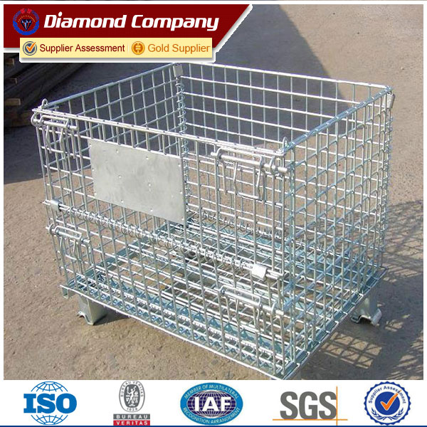Storage Cage With Wheels,Portable Storage Cage/metal wire mesh container