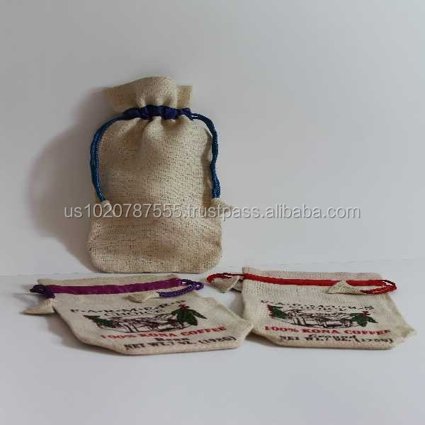 Natural Burlap Jute Muslin Bag (Drawstring Bag)