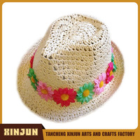 Paper Vase Style Design Folding Straw Hat