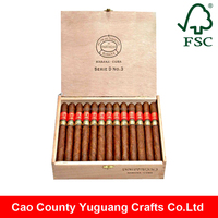 Custom wholesale alibaba high end small wooden cigar boxes for sale