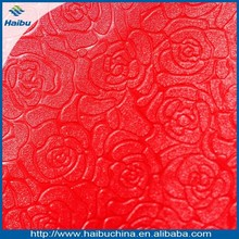 new design flower pattern embossing faux leather