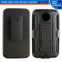 PC+Silicon Case for Motorola X2 Back Cover With Stand