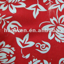 Free sample printed peach skin fabric for bedding flat