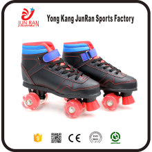 Factory Supply PVC/PU/LED Wheel four wheels kids roller skate shoes