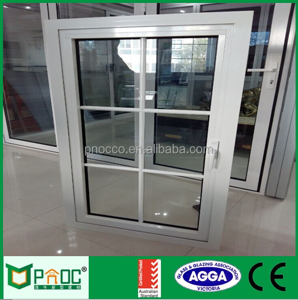 Swing opening aluminium profile doors and pvc windows double glass casement window PNOCCW0003