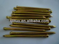 Factory hot sale!Yellow zinc plated headless wire nail !!!!