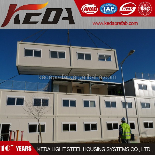 Prefabricated House Container Office / Worker House in construction site 410