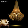 New Arrival Aluminum Chain Chandelier French Empire Bronze Post Illumination Hanging Lamp for Living room Hotel Cafe MD2611