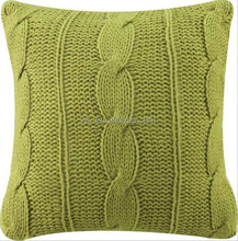 2015 fashion home decor crocheted design cotton Knitted cushion