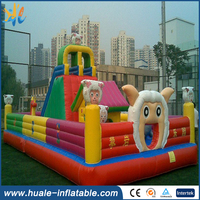 2016 cute outdoor inflatbable bouncer, inflatable slide, inflatable jumping trampoline