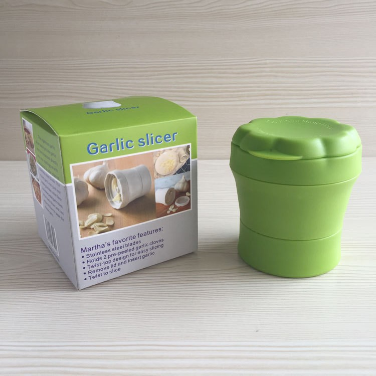 Plastic Manually Vegetable Cutter Slicer Spiral Garlic Slicer