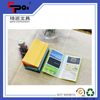 PP Stationery In Stock Wholesale 120 Pockets Business Card Holder With Elastic