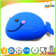 Embossed design silicone coin purse/Animal silicone rubber purse wallets