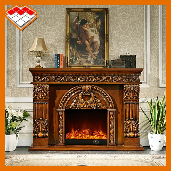 Guangzhou Freestanding Corner Wooden Fireplace Flame With 220v Electric Heater Buy Wooden