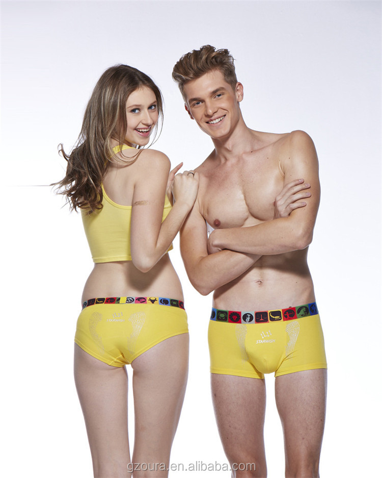 Zhongshan factory OEM new design panty custom underwear for couples