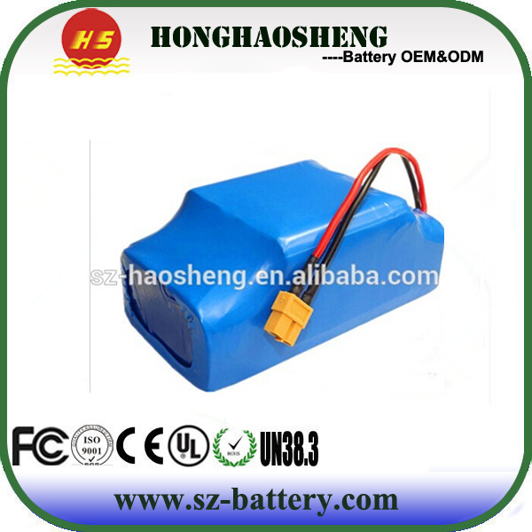 Hot sales Rechargeable 18650 10S2P 36v 4.4ah li ion battery pack for two wheel smart balance electric scooter