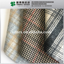 Double layers bonded Check plaid design flannel woolen fabric with sherpa tartan wool woolen fabric for jacket