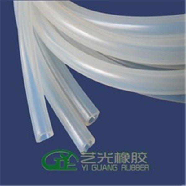Clear transparent medical grade silicone rubber tube