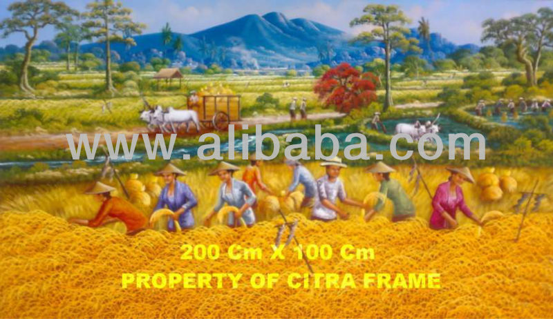Amazing Harvest Oil Painting from Indonesia
