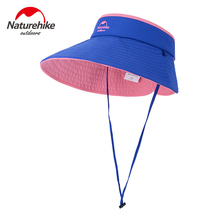 NatureHike Hat Girl UV-Protective Foldable Beach Breathable Women Summer Hat Cycling Hats With Wind Rope Blue Red Dark Blue