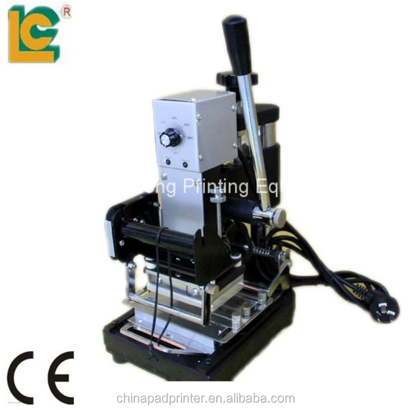 Business Card Hot Stamping foil Machine /metal label card embosser machine TH-972