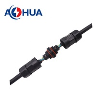 AOHUA M23 L type power cable electrical  joint waterproof connector no gender