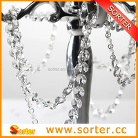 interior decoration clear crystal beaded curtain