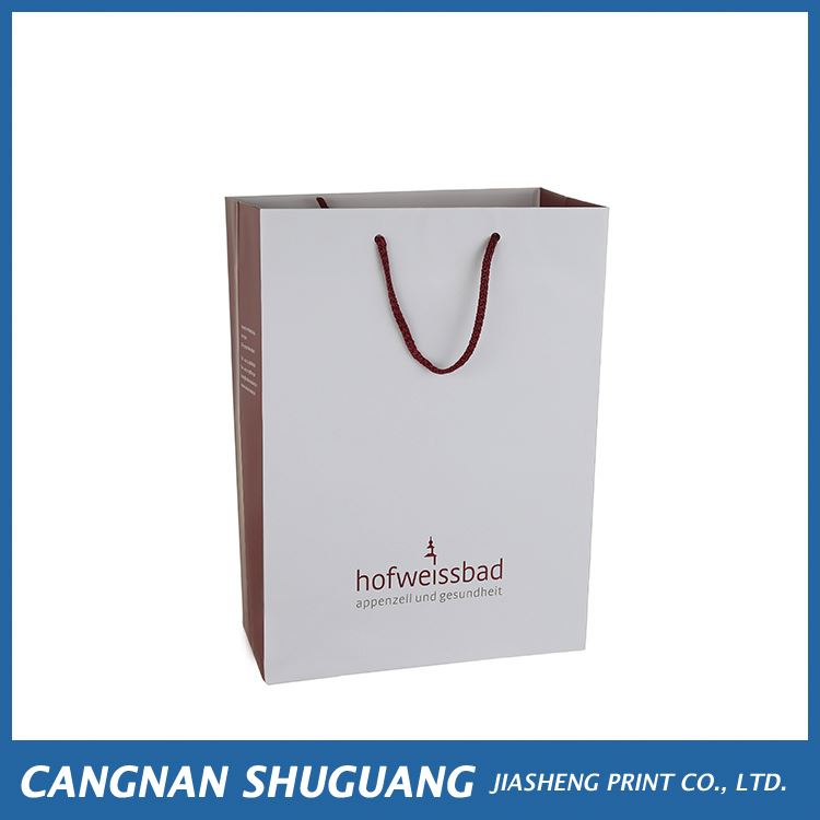 Newest selling simple design custom shopping kraft paper bag