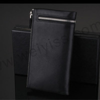 Factory Direct Fasion zipper leather wallet for men With Long Section