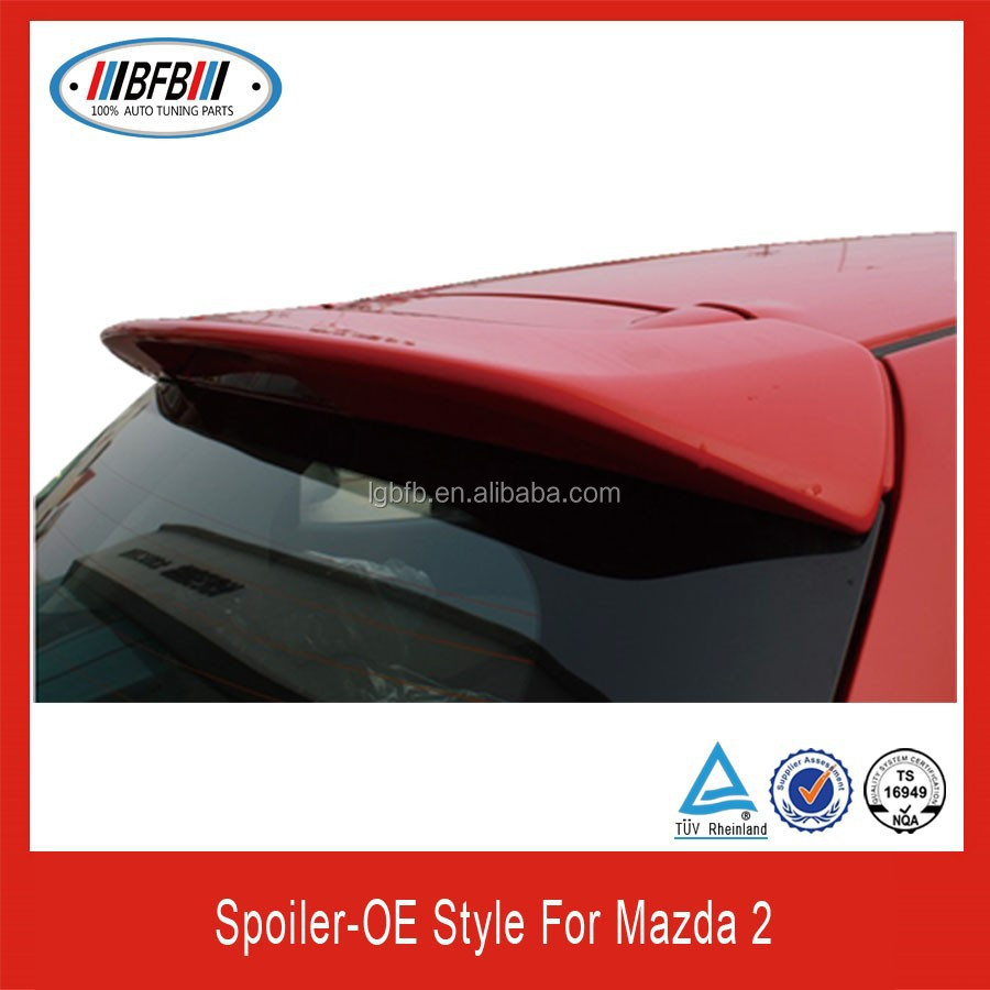 Auto parts OEM style rear truck spoiler ABS plastic spoiler for Mazda 2