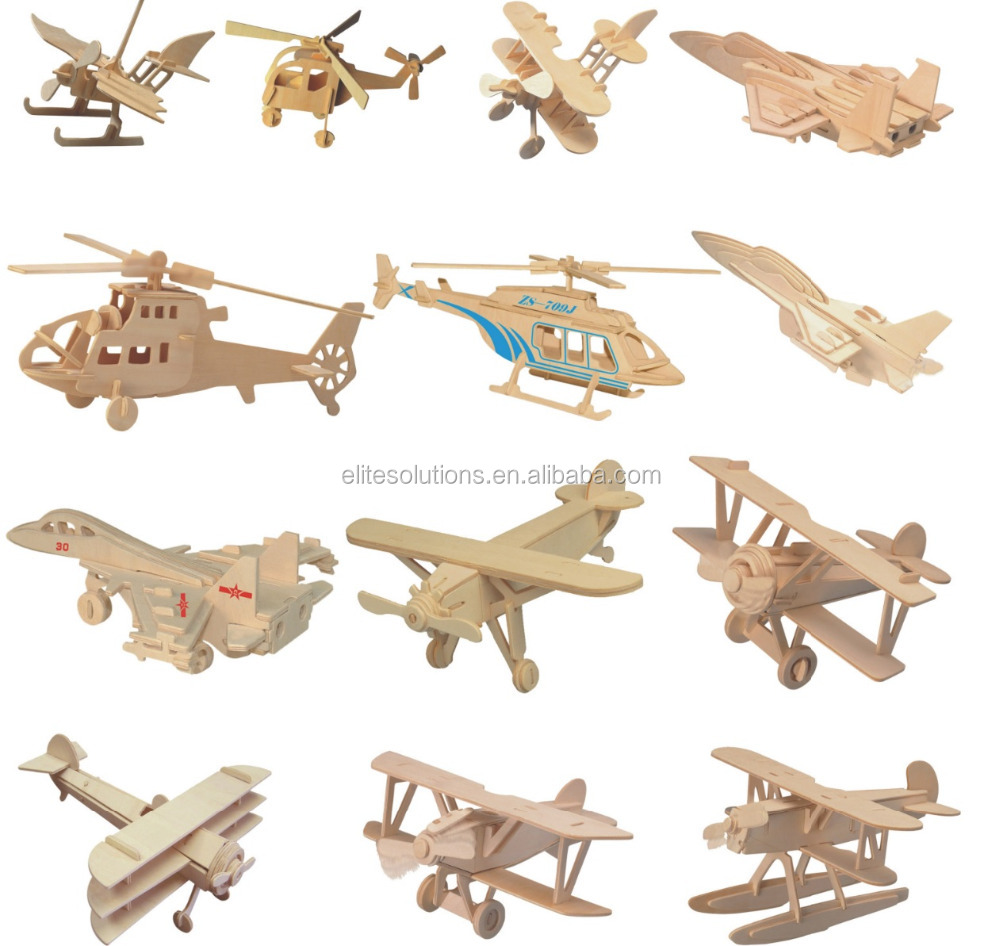Hot Selling 3D Plane, Ship, DIY Wooden Toys, 3D Puzzle, Wholesale Available
