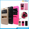 Wholesale Cell Phone Double Window PU Leather Flip Cover Case For Samsung Galaxy J1/J3/J5/J7