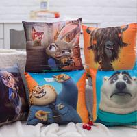 Zootopia cartoon movie cushion cover