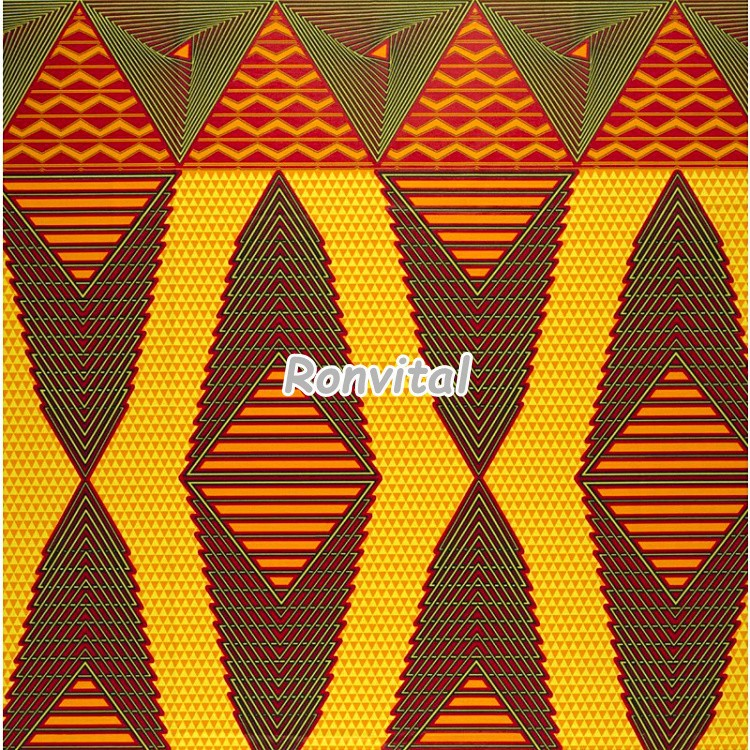 Item No.063006 Most popular high-quality african wax fabric of ghana kente