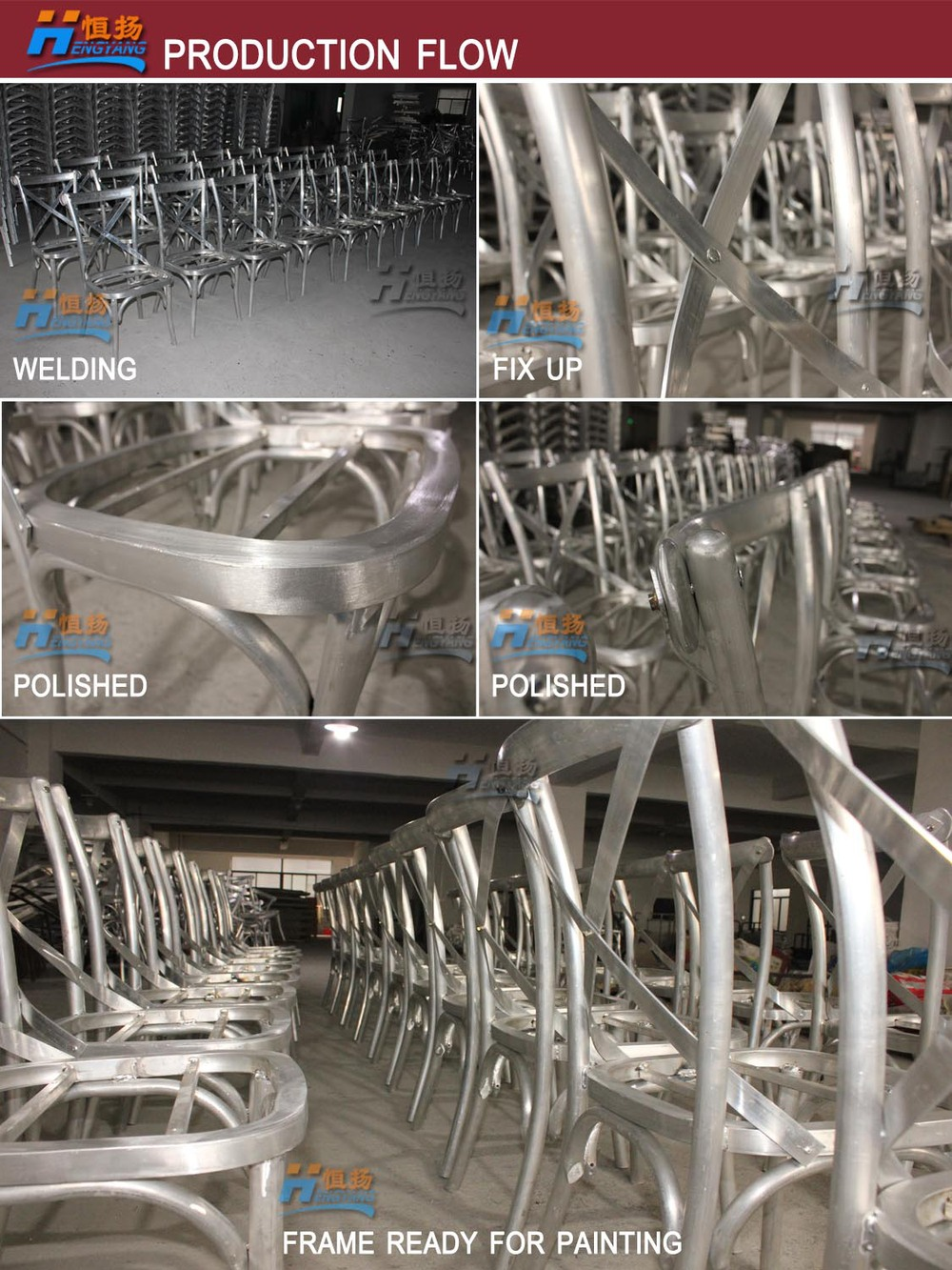 HS-2116 wholesale 2015 new design modern aluminum restaurant tables and chairs for sale used
