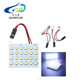 factory price auto parts interior lamp bulb roof light 1210 24smd car led dome light