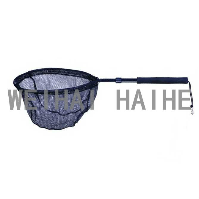 fly fishing tackle aluminium telescopic landing net