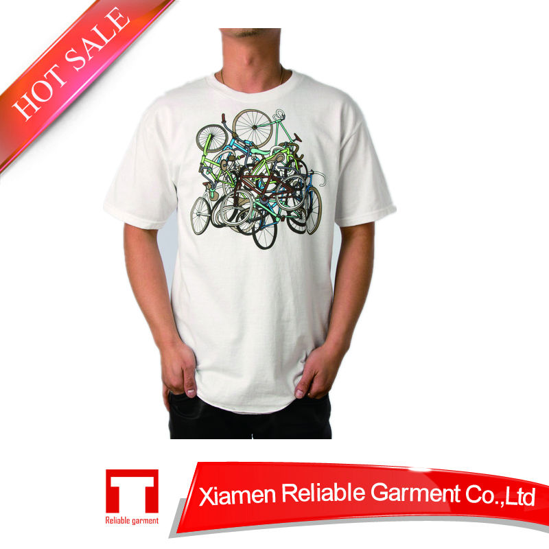 Popular cotton fabric t-shirt silkscreen printing 2-dollar-t-shirts in china
