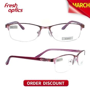 italian eyewear brands rectangle glasses frame metal eye
