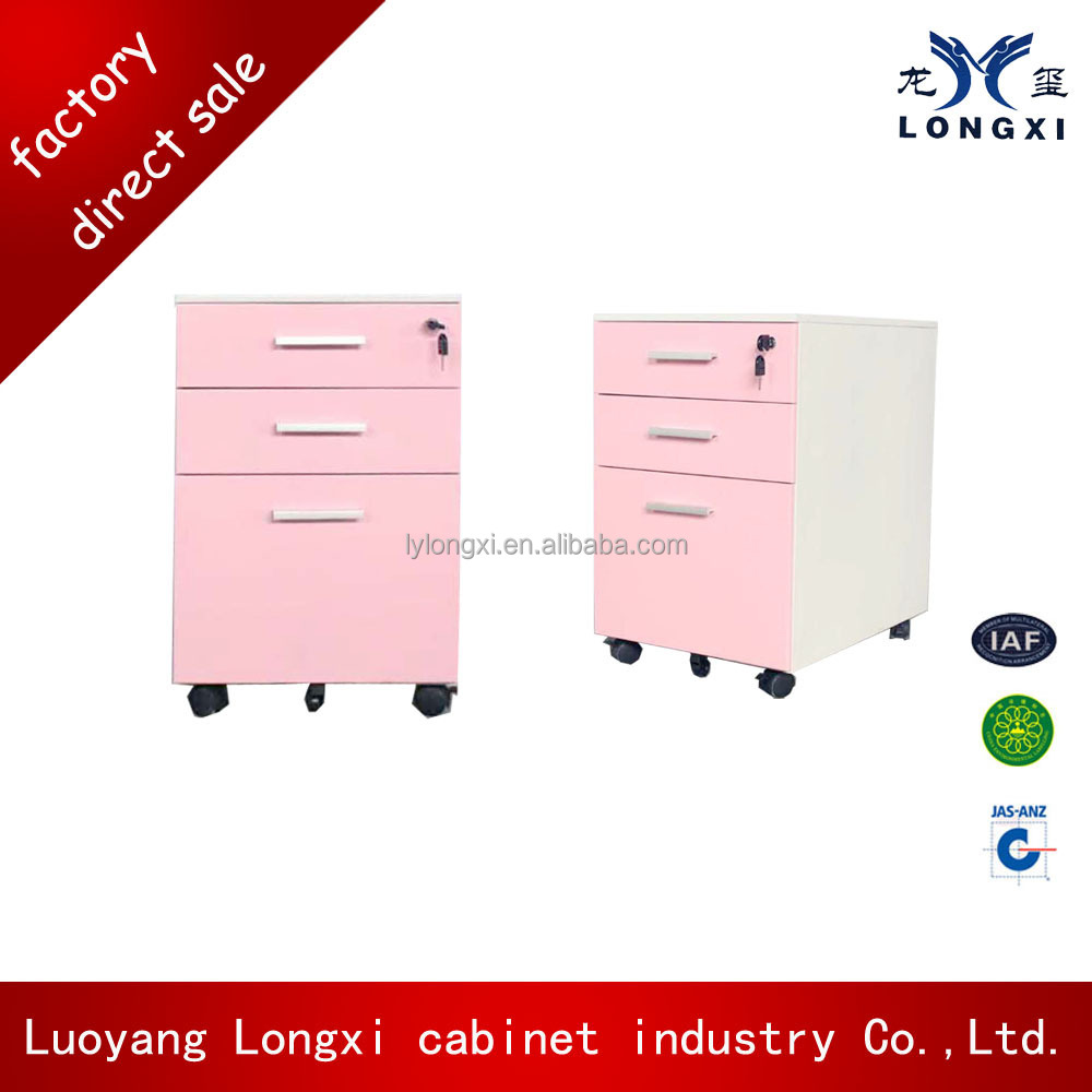 Office Furniture cabinet pink mobile dental cabinet