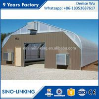 SINOLINKING Commercial Polycarbonate Light Deprivation Greenhouse